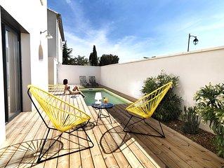Bédoin, maison contemporaine pour amoureux du design, du sport et du Ventoux