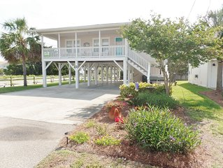 Pet Friendly Private Home 1 Block from Beach at Cherry Grove's Sand Dollar