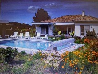 A SEIGNOSSE- Votre Villa 5* et sa piscine chauffée sur la côte landaise