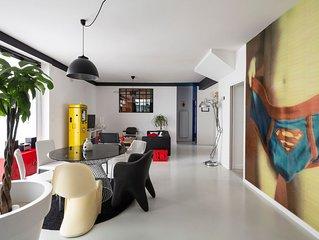 Le 32 - Loft Pop Art - 3 chambres avec parking privé