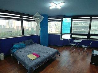 New PRIVATE STUDIO APT Hot Spot of Daeyeon St(15 min) 短期滞在に最適。