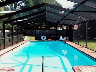 Entire 3-bedroom. No pet. House with heated pool for rent in Fort Walton Beach.