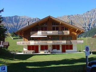 Ferienwohnung Adelboden fur 6 Personen mit 3 Schlafzimmern - Ferienwohnung