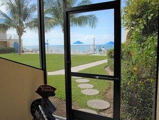 Beachfront w/Screened In Lanai on Seven Mile Beach at Cayman Reef Resort #33