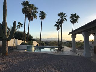 **STUNNING mountain sunrise and sunset, spacious 4 bed, 4 bath-pool and hot tub.