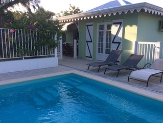 Filao Villa with private pool and secure in Sainte Anne