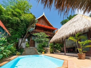 Villa Ayutthaya, private pool near the beach with sea view
