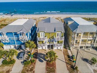 SandPiper Cove: 6 BR / 4 BA duplex in Kure Beach, Sleeps 14
