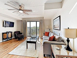 Downtown Condo w/ Balcony View of Cape Fear River & Battleship North Carolina
