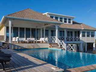 Brand New! 7000 square feet of Luxury on a Spectacular Private Beach!