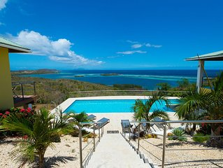 Pura Vida Culebra; breathtaking ocean view luxury 5 bedroom with pool property