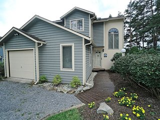 Lake access pet friendly home w/ hot tub, free WIFI, and a grill!