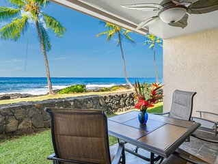 WOW, THE OCEAN IS RIGHT OUTSIDE THE DOOR!! Free WiFi, Washer/Dryer, a/c, Kitchen