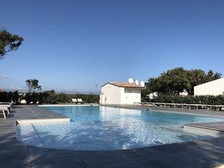 Mini-Villa plain-pied  4/6 pers dans résidence avec piscine