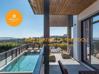 Happy Villa. New amazing 300sqm villa  close to Chania (with heated  pool)