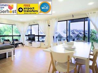 Duplex 4-Room, 3-bath, 1 Kitchen Apartment (1500 Sq ft)