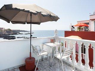 Top view!! Ferienwohnung nur 20 Schritte vom Meer entfernt.