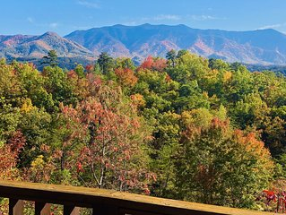 Gatlinburg *Romantic;Private Log Cabin; Mountain View, 5 STAR *LOCATION LOCATION