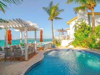 Charming ocean-front beach villa w/ private pool/hot tub plus SPECTACULAR VIEW!!