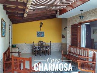 CASA CHARMOSA PRAIA DO JABAQUARA COM AREA CHURRASCO + WIFI + TV A CABO