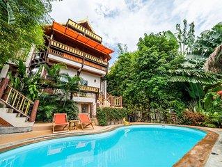 Villa Siam Lanna, private pool near the beach with sea view