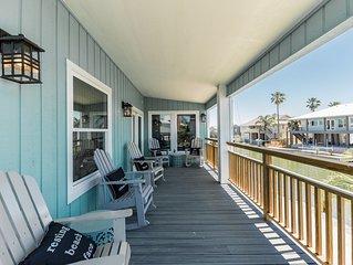 The Mermaid House on Key Allegro, waterfront, Open Bay views, sleeps 12-14