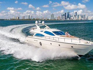 Luxury Yacht in Miami. 69 ft. Private.  Charters Available $595/hr for guests.