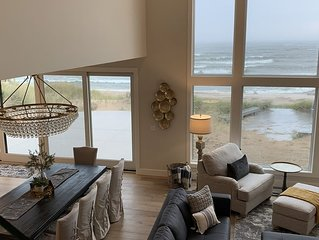 New N Shore Lake Michigan home with large & pristine private beach