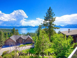 Stunning Lake Views, Hot Tub, Deck, BBQ, Fireplace, Large Home (NVH1009)