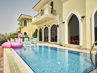 Lujosa villa de 6 dormitorios en Palm Jumeirah