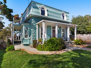 Iconic, Remodeled 19th Century Home w/ Hot Tub & Custom Kitchen - Steps to Beach