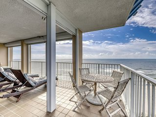 Penthouse level, corner condo w/ shared pools, hot tub, & beach access!