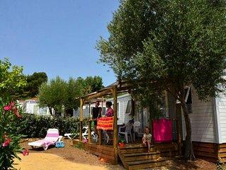 Domaine Sainte Veziane*** - Mobil home Premium Climatisé 4 pièces 6 personnes