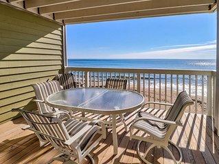 Oceanfront Condo, 3 bed, 2 bath, sleeps 8, elevator, indoor and outdoor pool