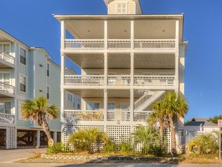Clam Shell  Villas #7- 4 bed 4 bath ocean view town home w/pool and elevator