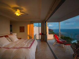 Casa Sajonia- 180 degree ocean view, modern 4brdm home with private pool