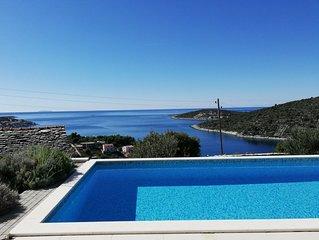 Große 5* Captain's Villa Seadream, priv. Pools, schöner Garten, 200 m vom Meer