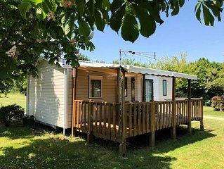 Camping Au Pré de l'Etang - Mobil home Bermudes 4 pièces 6 personnes