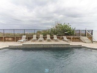 Beautiful Oceanfront Pool Home ~ Private Boardwalk ~ Sugar Sand Beach