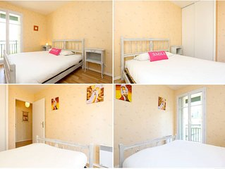 DISNEYLAND, Val d Europe, WIFI, TV LCD, NESSPRESSO, appartement pour 8 pers, 2 b