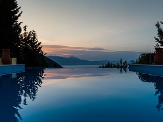 Large luxury villa on Lefkada with breathtaking Ionian views