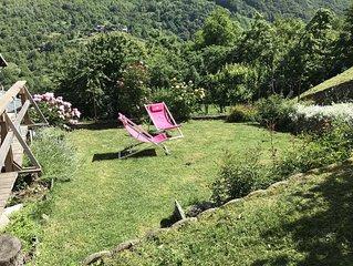 Appartement T2 35 m2 avec jardin dans Maison de village 1km de Brides les bains