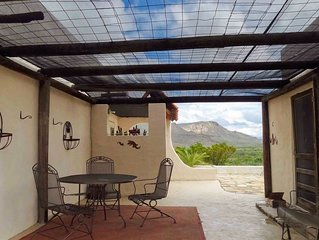Desert Aura: Classic adobe with detached guest house. Two miles from Terlingua R