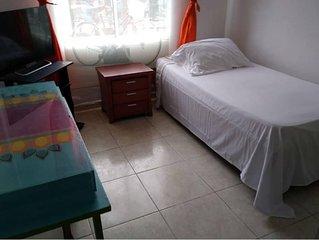 Safe and clean private room & bathroom near Cali park