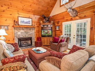 4BR Mtn Cabin, Pool Table, Wrap Around Porches, River Access, Peaceful Wooded Se