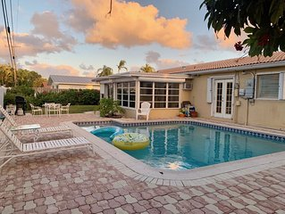 FORT LAUDERDALE (15 mi. North) POOL - Min. to the BEACH; Exclusive Neighborhood!
