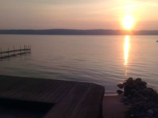 Cottage on Lake Charlevoix near Boyne City, 2nd best lake in USA!  Shore Station