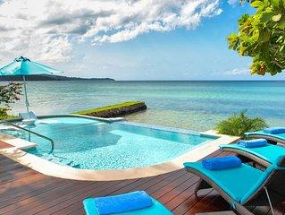 Beautiful Beachfront Villa, Private Pool, Tennis, Full Staff, Gated Community