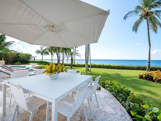 LOVELY UPDATED OCEANFRONT 6 BEDROOM HOME WITH FULL STAFF