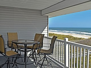 Oceanfront 3 bed 2 bath, Top Floor, covered deck with incredible views